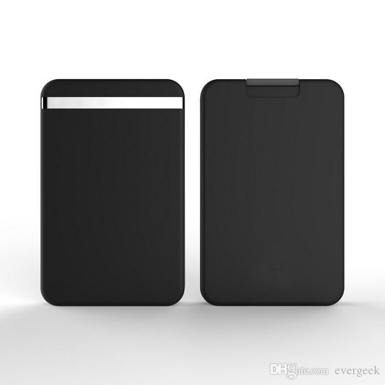 Minimalismo flexível RFID Bloqueio do cartão Porta única mão Deslize Carteira Open Access plástico Cartão Organizador por Homens