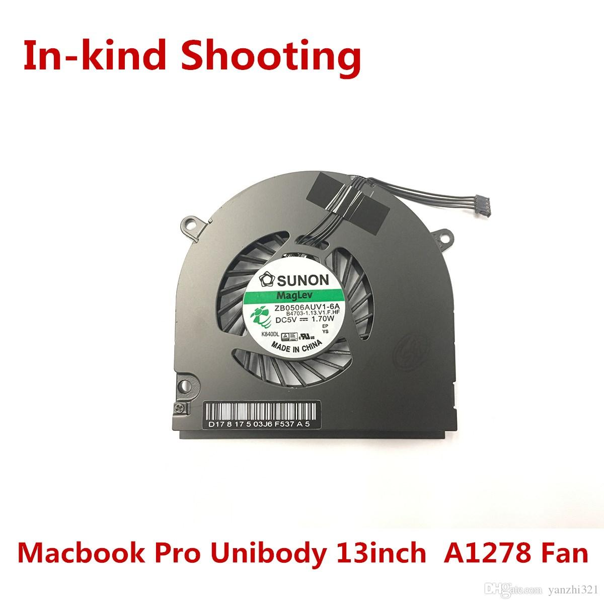 Original NEW A1342 A1278 Fan for Macbook Pro Unibody 13inch 2009-2012year CPU Cooler Fan MB466 MB470 MC375 MB990 MB991 MC700 ZB0506AUV1-6A