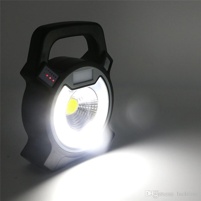 Luz portátil COB LED Luz de inundación USB recargable Lugar de trabajo al aire libre Lámparas Linternas para acampar 4 modos luz de emergencia lámpara nocturna