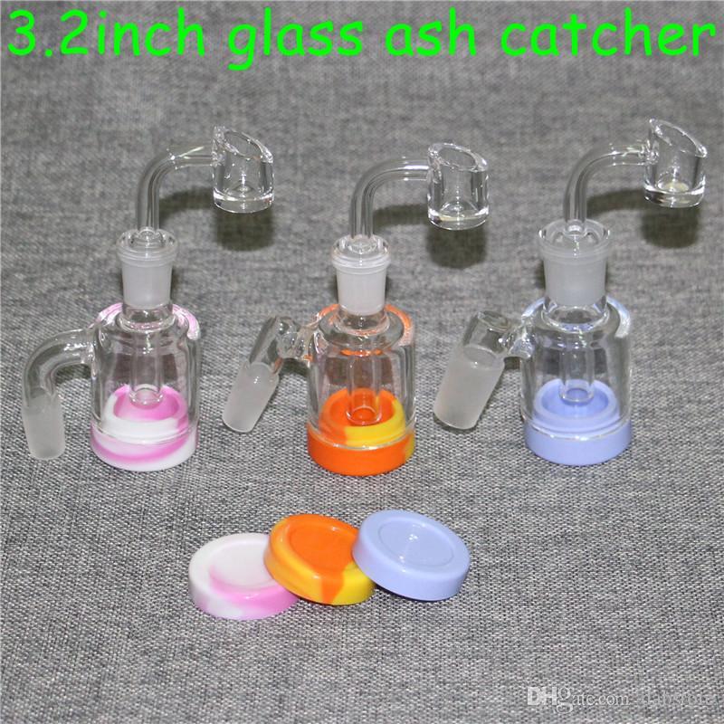 Reclaim Glas Aschfänger Adapter 14mm 18mm Männlich 45 90 Mit Quartz Bangers Reclaimer Ashcatcher Adapter für Glasbongs Dab Rigs