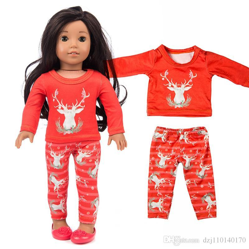 """Fits 18/"""" Doll Girls Doll Handmade Christmas Outfit Doll Clothes Christmas gift"""