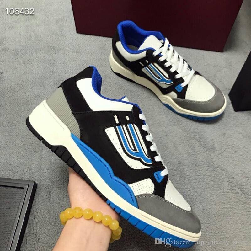 2019 Havalandırma YENI Orijinal Kutusu Hakiki Deri RUN AWAY Tasarımcı Sneakers Moda Kadın Ayakkabı eğitmenler erkekler Karışık Renk 35-44