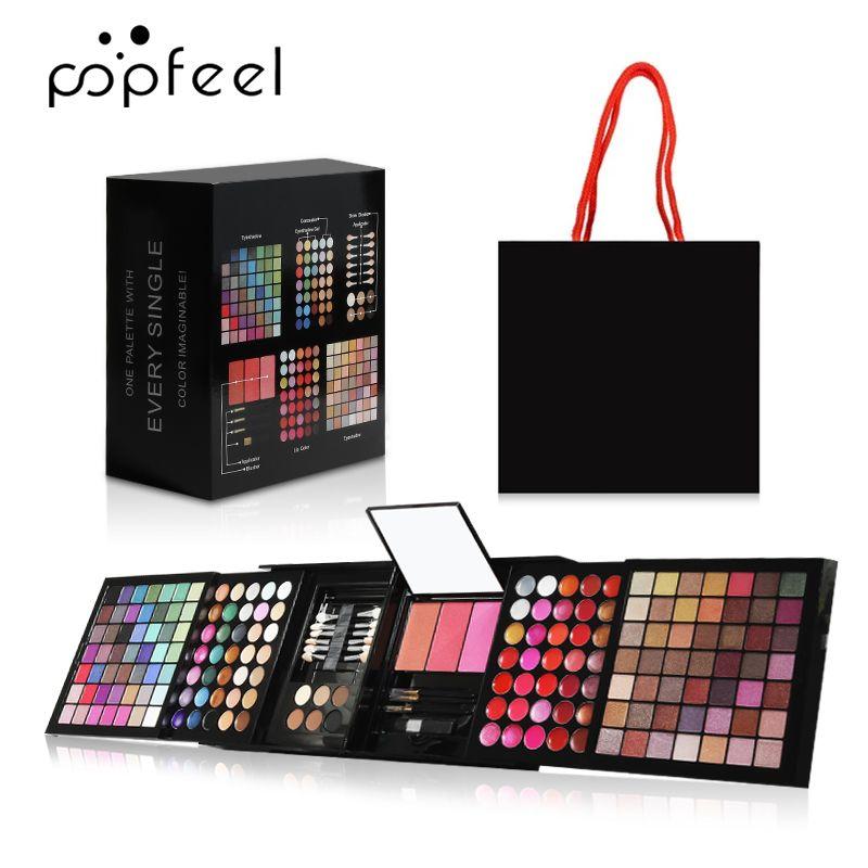 Make Up Kit 177 Cores Professional Eyeshadow Palette Concealer Batom Sobrancelha Pó Com Escova Cosméticos Mulheres Set Makeup