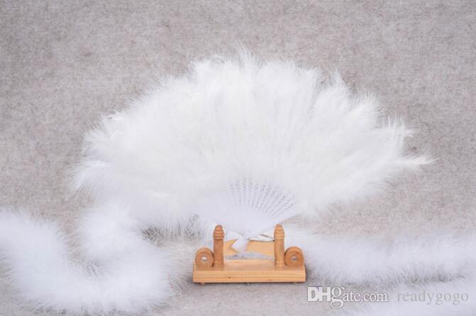 다채로운 깃털 팬 결혼식 Showgirl 댄스 접는 핸드 깃털 팬 (브라 액세서리