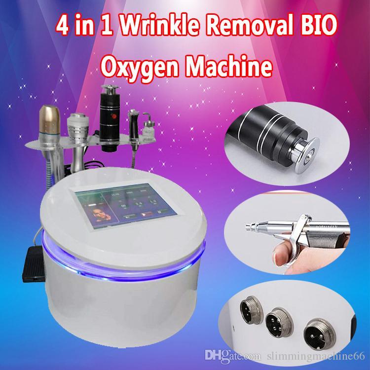 4 في 1 Vmax تشديد الجلد بالموجات فوق الصوتية شد الوجه آلة فعالة علاج التجاعيد حقن المغذيات الحيوية الجلد تبريد الأكسجين رذاذ