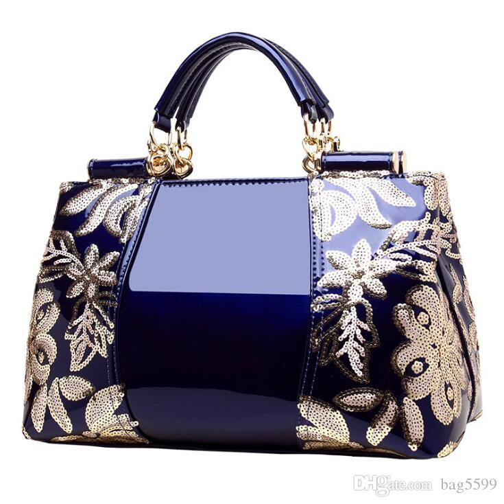 HBP New patent leather shoulder fashion bag 2021 women's bag European and American style shiny handbag