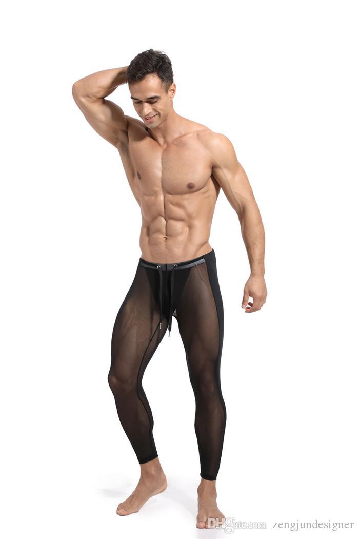 Sport Designer Mens Slim Pantalon de couleur unie longues sexy style Homme Vêtements Skinny légère active Apparel Casual
