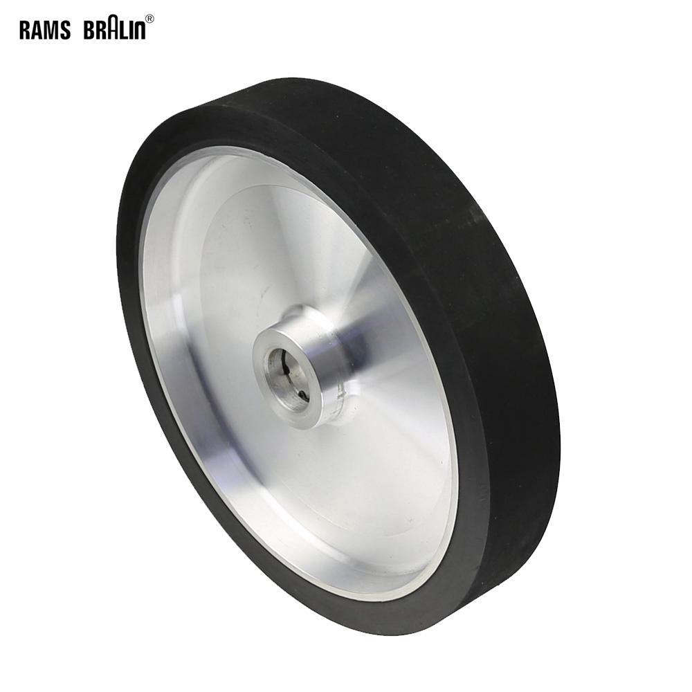 300 * 50 мм твердое колесо контакта ленточного шлифовального станка динамически сбалансированное резиновое полировальное колесо абразивный шлифовальный ремень комплект