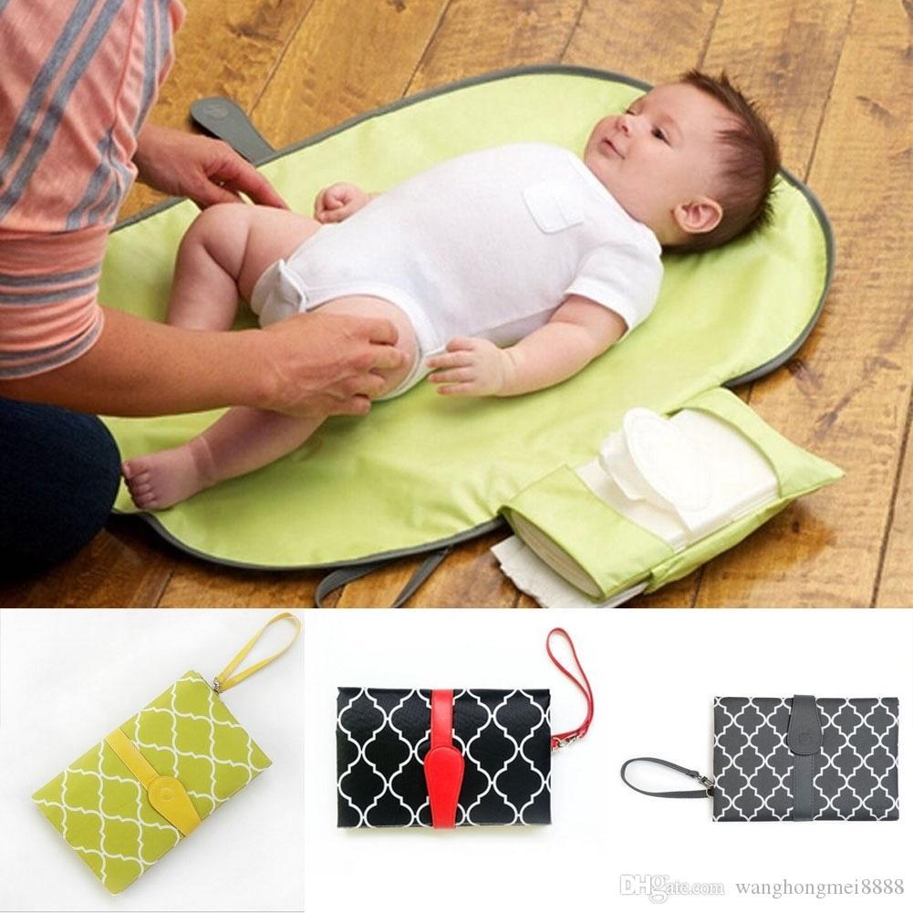 뜨거운 아기 주최자 매트 편리한 편안한 통 친구 변경 패드 휴대용 유아 기저귀 가방 방수 저장