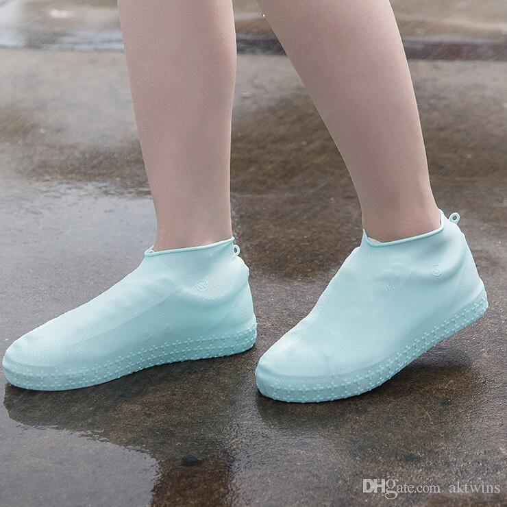Que joga a água sapatos de verão antiderrapante impermeável Chuva sapatos Botas Tampa antiderrapante e à prova de chuva Tampa da sapata antiderrapante Acessórios LXL1002-1