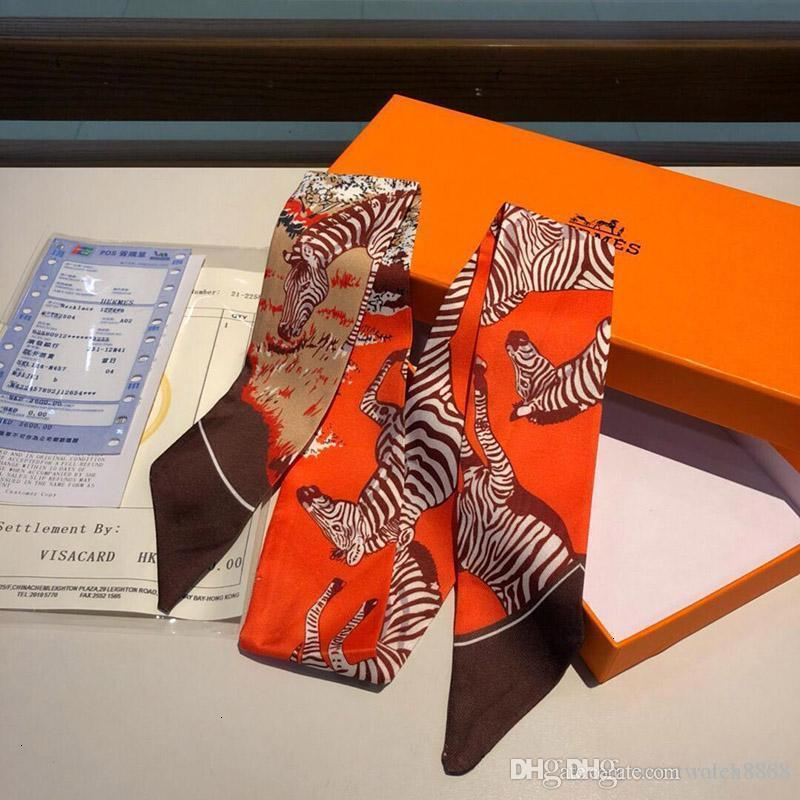 дизайнер для женщин тонких ручек сумок шелковых шарфы с двухсторонними печатной саржей ленты рождественских подарками 54 ро