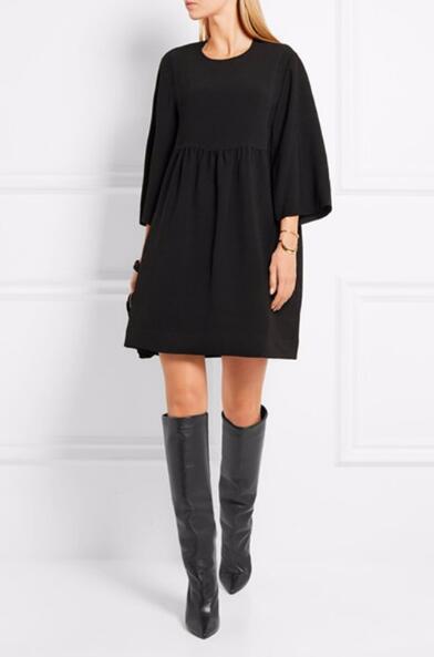 Горячая распродажа-новое поступление простые кожаные сапоги на высоком каблуке колено Высокая мода зимние сапоги женщины все Матч платье сапоги тренд размер 35-42