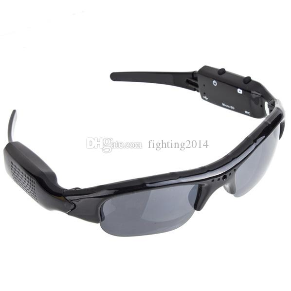 HD 1280*960P SunGlasses Mini Camera Portable wearable Sunglasses mini audio video recorder home office Security Camcorder Support TF card