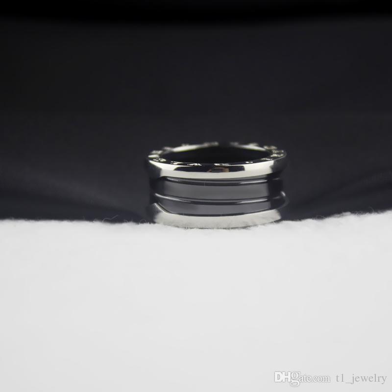 إمرأة أسود السيراميك خواتم سحر خمر المرأة التيتانيوم الصلب حلقة عيد الحب الجميلة مجوهرات الزفاف