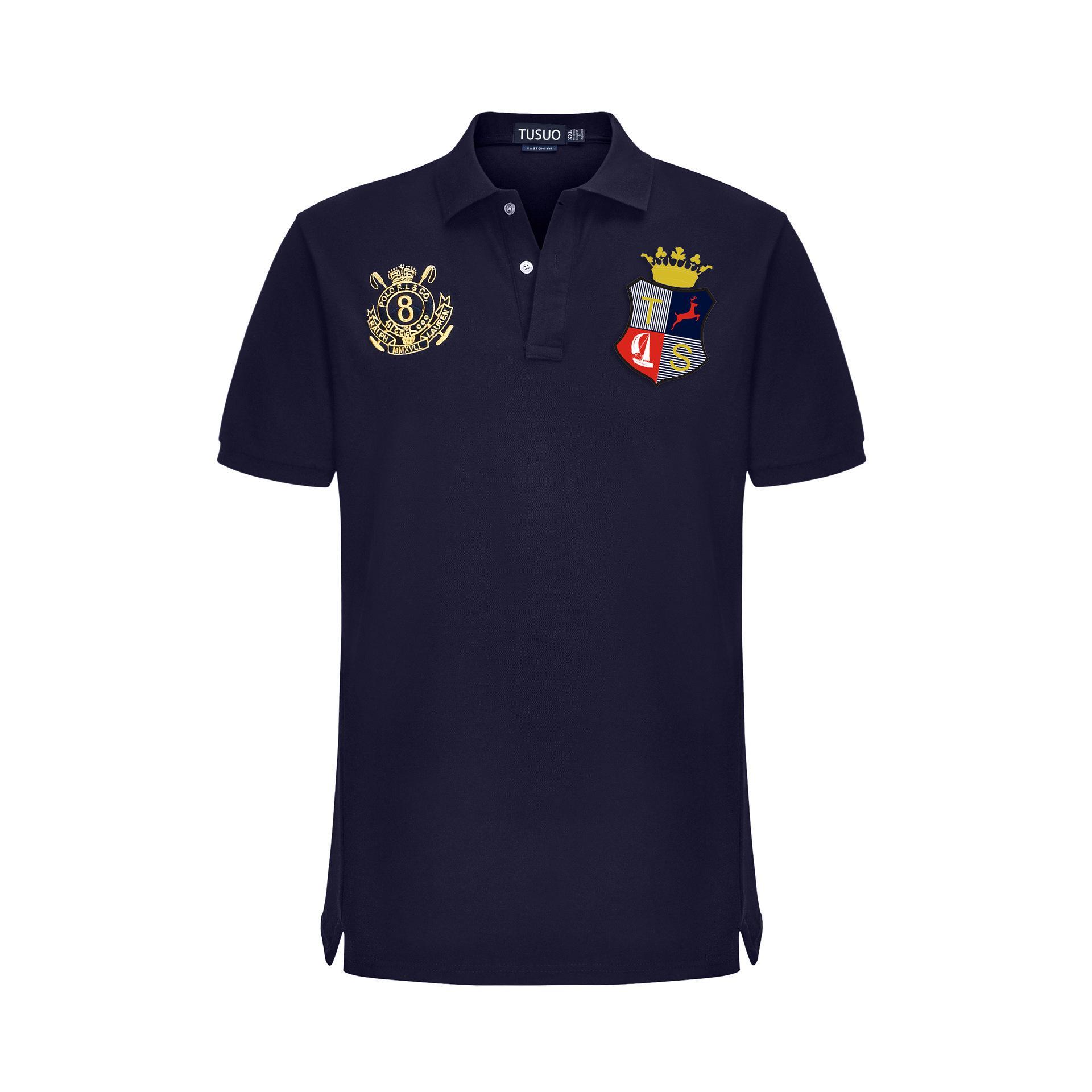 Explosion à chaud Taille européenne plus gras GG Polo homme coton cheval Mark T-shirt pour hommes