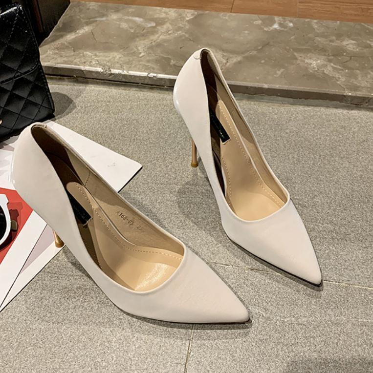 2020 весной и осенью с новой моды стиль Высокий каблук прекрасный пятки заостренный конец обувь Женская @ MQWBH782
