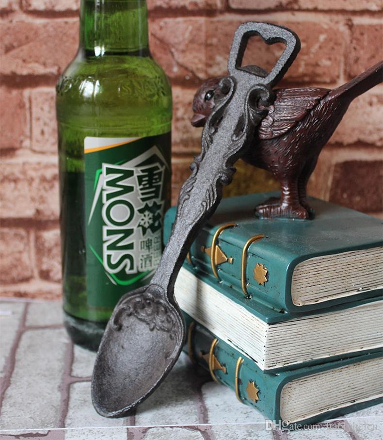 10 pezzi apribottiglie in ghisa bar soda pub club casa cabina lodge decorazione cucina apribottiglie birra vintage metallo artigianale retrò