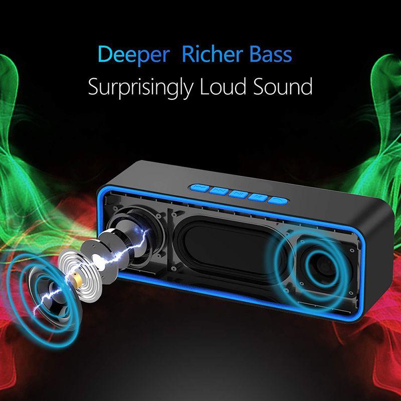 Alto-falante Bluetooth Portable Bluetooth Coluna Altifalante com Mic Music Box Modelo Suporte TF AUX FM Rádio para Smartphone PC