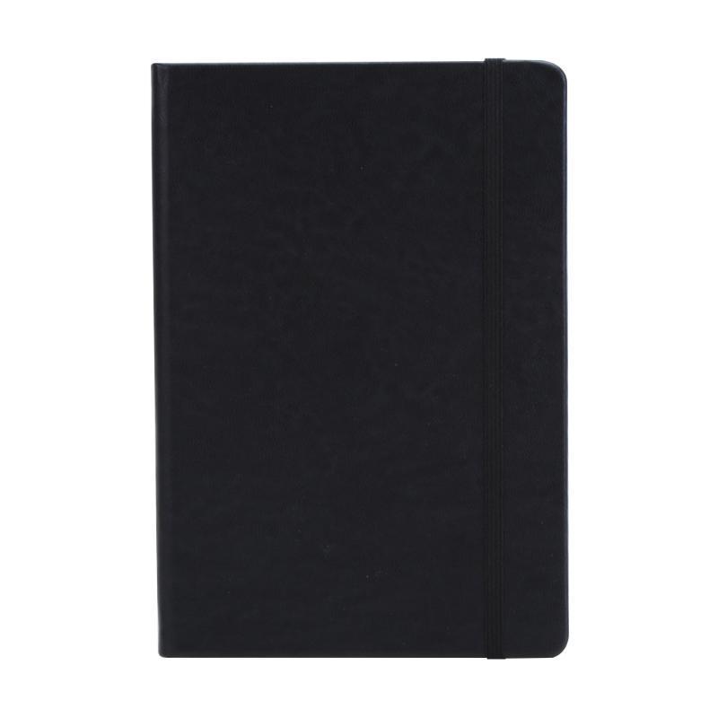 A5 Couverture en cuir Revues Papeterie Bloc-notes d'affaires Journal cadeau étudiant Note Book Planner Portable bricolage écriture Sangle de