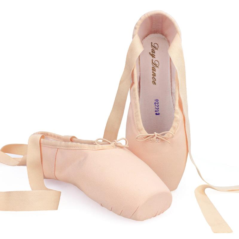 Girls Ladies Canvas Ballet Pointe Shoes Adult Women Dance Ballet Shoes Professional Ballet Shoes with Toe