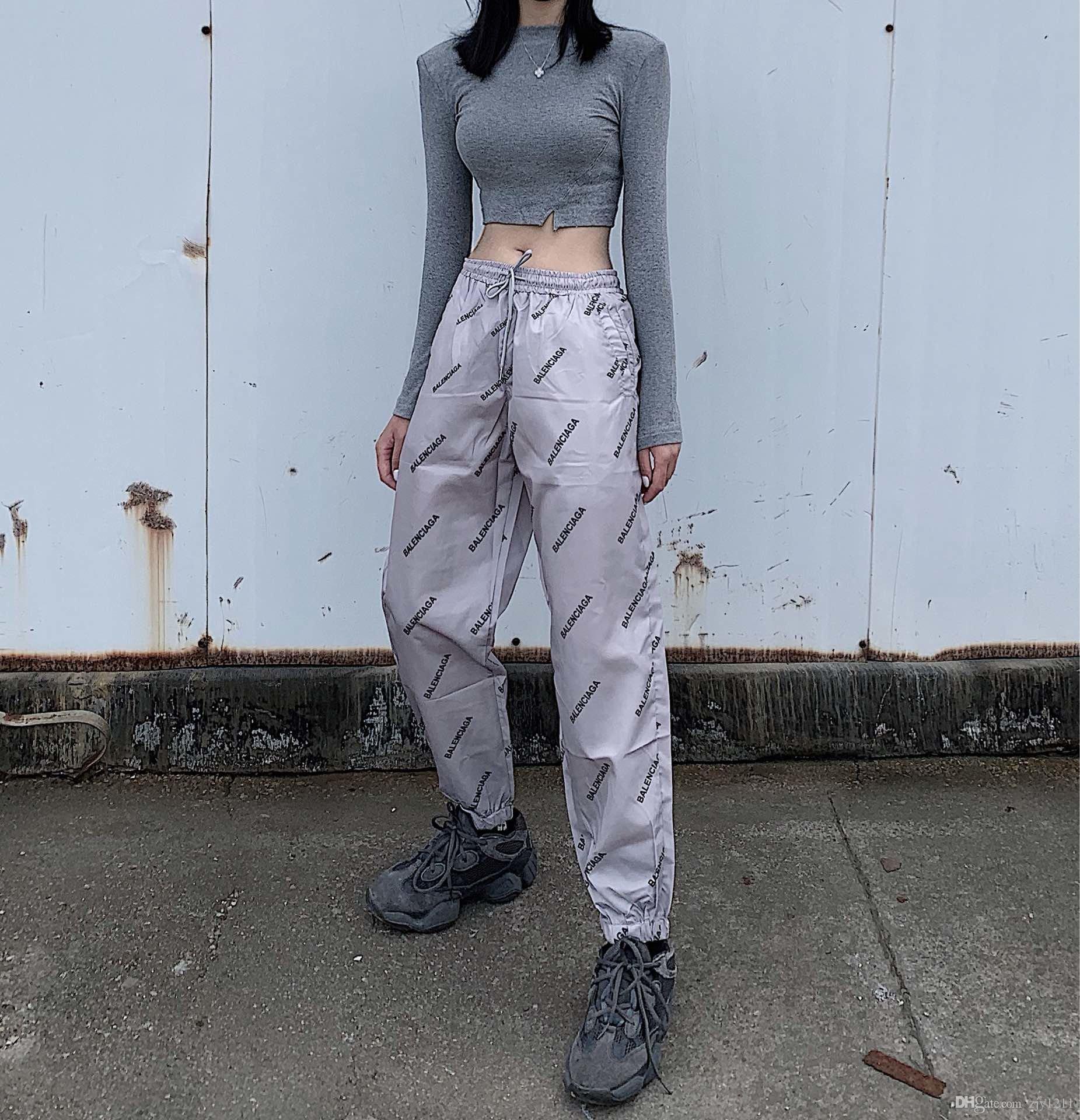 20SS женщины мужчина роскошных классических модные дизайнерские брюки удобного высокого качества Колющих стороны Издание идеально подходит стороне шить клетчатые штаны