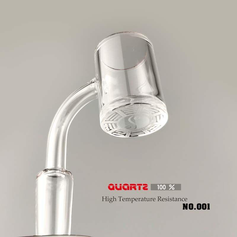Quarz-Banger Nägel Tai Ji Form Boden Männlich Weiblich 10 14mm 18mm Degree90 45 Quartz Bangers für Glaspfeife Dab Rig aa
