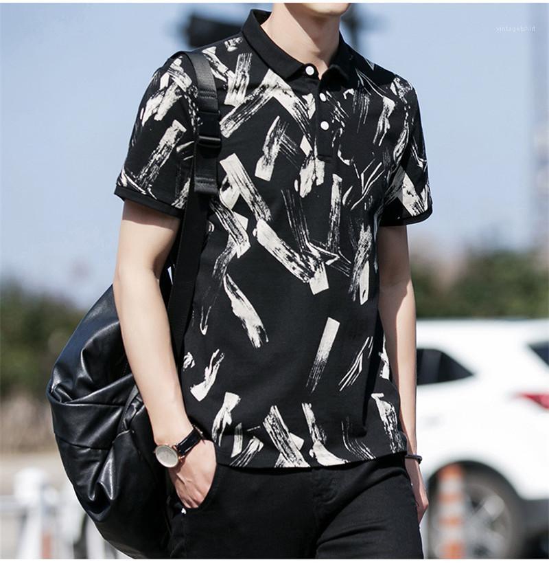 Designer d'été à manches courtes Polos T-shirts Mode d'impression Slim Adolescent Shirts Hommes Polo Hommes 2020 Luxe