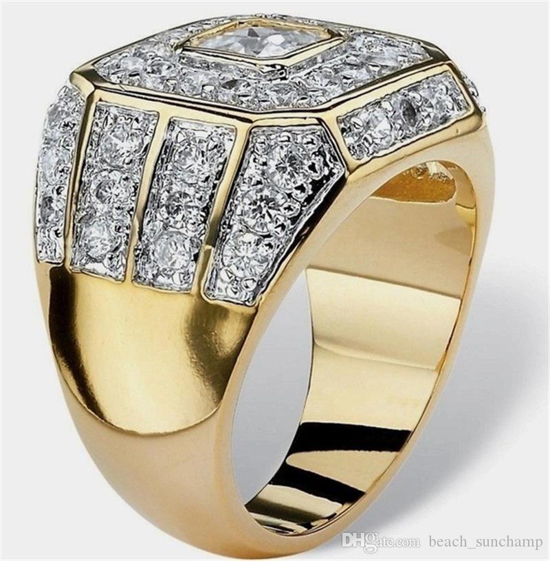 المد الماس حلقات سبيكة إمرأة الذهب الهيب هوب روك حلقة الأزياء عشاق حلقة إصبع للذكرى الزفاف