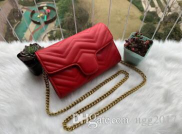 Crossbo 2020 nuevo estilo diseñador Marmont bolsos de hombro mujeres cadena de oro Cruz cuerpo bolsa Pu bolsos de cuero monedero mujer mensajero bolso de mano 23