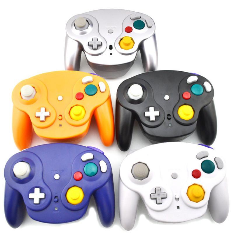 2.4Ghz controller senza fili del gioco Gamepad per Gamecube NGC Wii (Wii U interruttore con adattatore) 6 colori con la scatola colorata