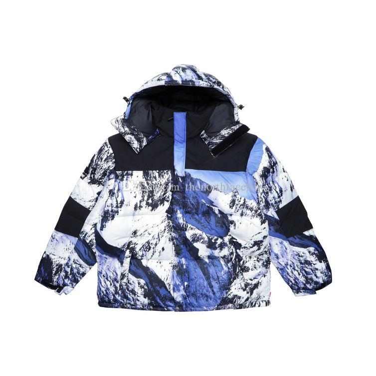 Berg Baltoro Winterjacke Blau Weiß Daunenjacke Männer Frauen Winter-Feder-Mantel Jacke warmer Mantel