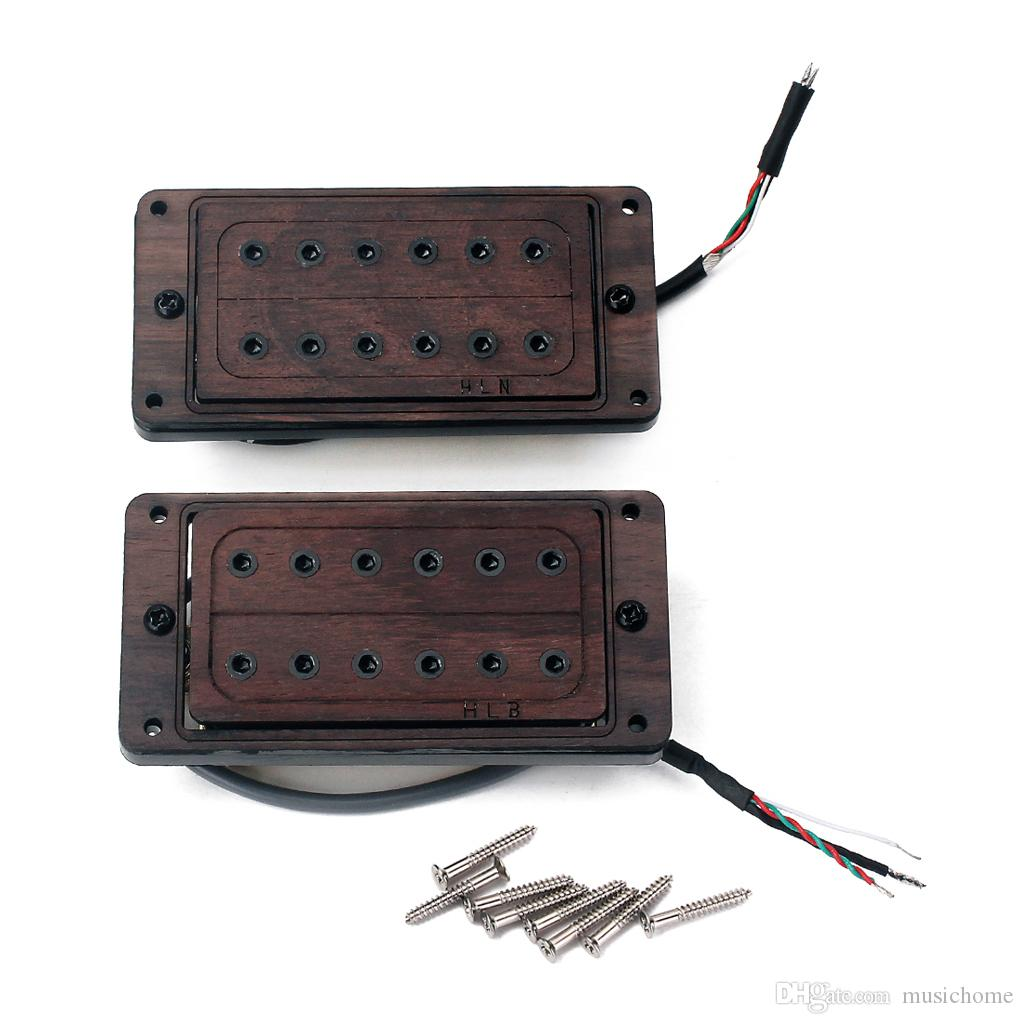 2 Pieces of RoseWood Electric Guitar Humbucker Pickups 50/52mm with Screws
