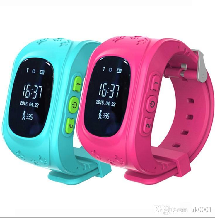 UK UK LCD GPS Tracker for Child Kid smart Watch SOS Safe Call Location Finder Locator Trackers smartwatch for Children Anti Lost Monitor