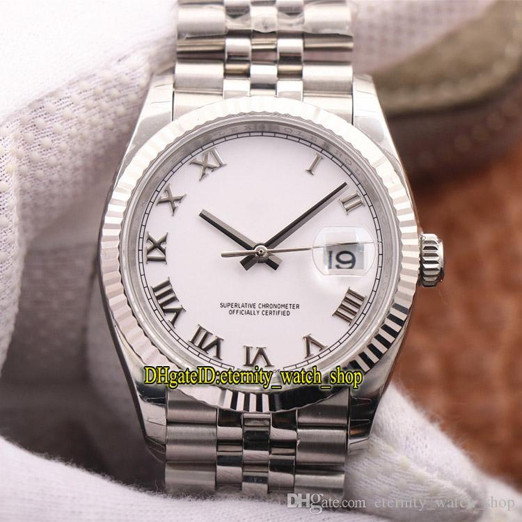 EW V2 Mejor versión DateJust 36mm M126234-0025 126233 Cal.3235 Automatic 126234 Mens Watch White Sapphire Sport Diseñador de lujo Diseñador de lujo