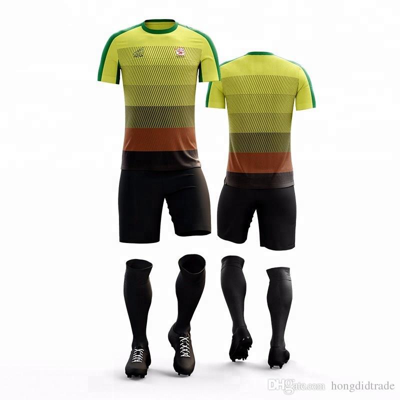 Personalizzato squadra di calcio jersey design personalizzare tuta da calcio tuta da calcio stampa gratuita logo numero fai da te uniforme da calcio jersey