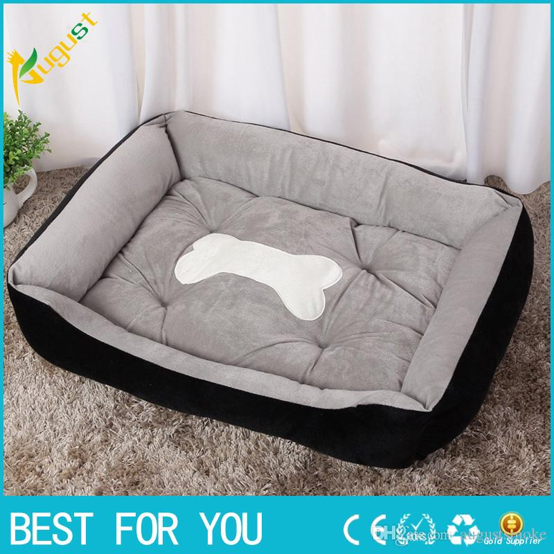Soft Doggy Puppy Warm Kennel British Style Pet Dog Cat Bed House Size M Coffee