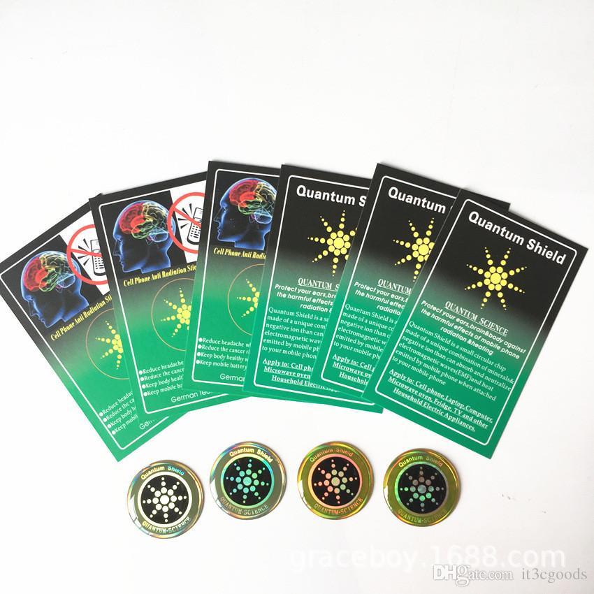 Advance Teknoloji Enerji Tasarrufu Çip Anti-Radyasyon Sticker Altın anti-radyasyon kuantum kalkanı vinil sticker için cep telefonu