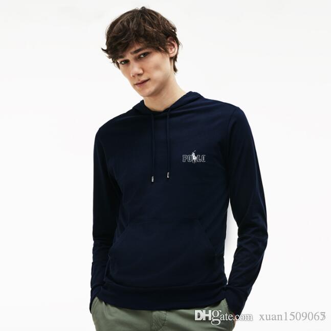 Männer Frühling und Herbst lässig neue Kapuzenpulli mit Kapuze Herrenbekleidung Trend mit Hut Langarm-T-Shirt Jacke