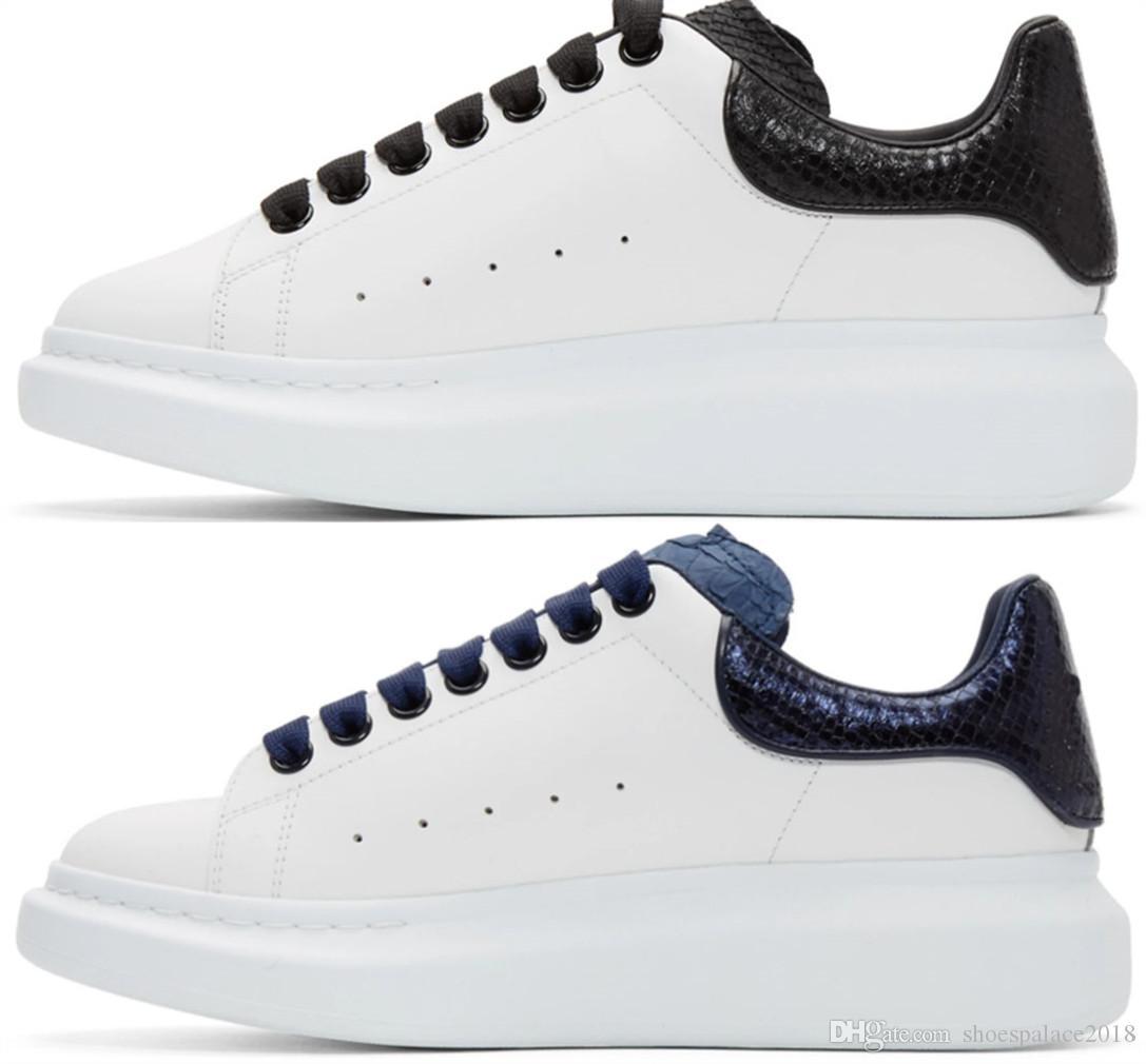 Homens Mulheres Sneaker calçados casuais Moda inteligente Platform Trainers luminosa fluorescente sapatos Cobra Voltar Chaussures couro Pour Hommes