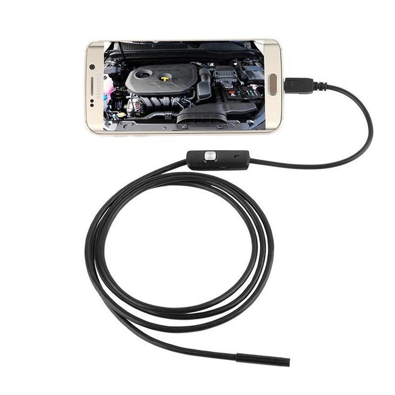 2 Mt 1 Mt 7mm Endoskop Kamera Flexible IP67 Wasserdichte Inspektions Endoskop Kamera für Android PC Notebook 6 LEDs Einstellbar