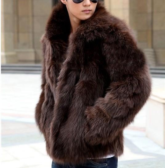 Neue Art und Weise männlich Herren-Pelz-Winter warm verdicken Mäntel Oberbekleidung Overcoat dünne Art- und Jacken Plus-XXXL Y1880