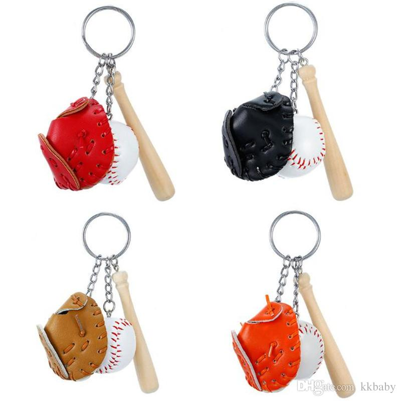 New Baseball Key Chain Ball Game Key Pendant Key Ring For Kids Women Man Toy Sports Chain