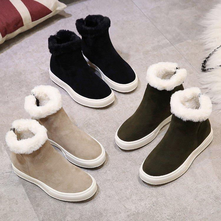 Hot Sale-femme Bottes hiver Casual New arrivée bottes d'hiver en pulls en cachemire daim bottines chaudes chaussures de plates occasionnels. XDX-078