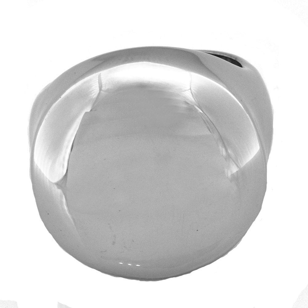 FANSSTEEL INOX joyería de la vendimia NORMAL anillo elevado anillo de arco redondo REGALO PARA LOS HERMANOS HERMANAS FSR00W85