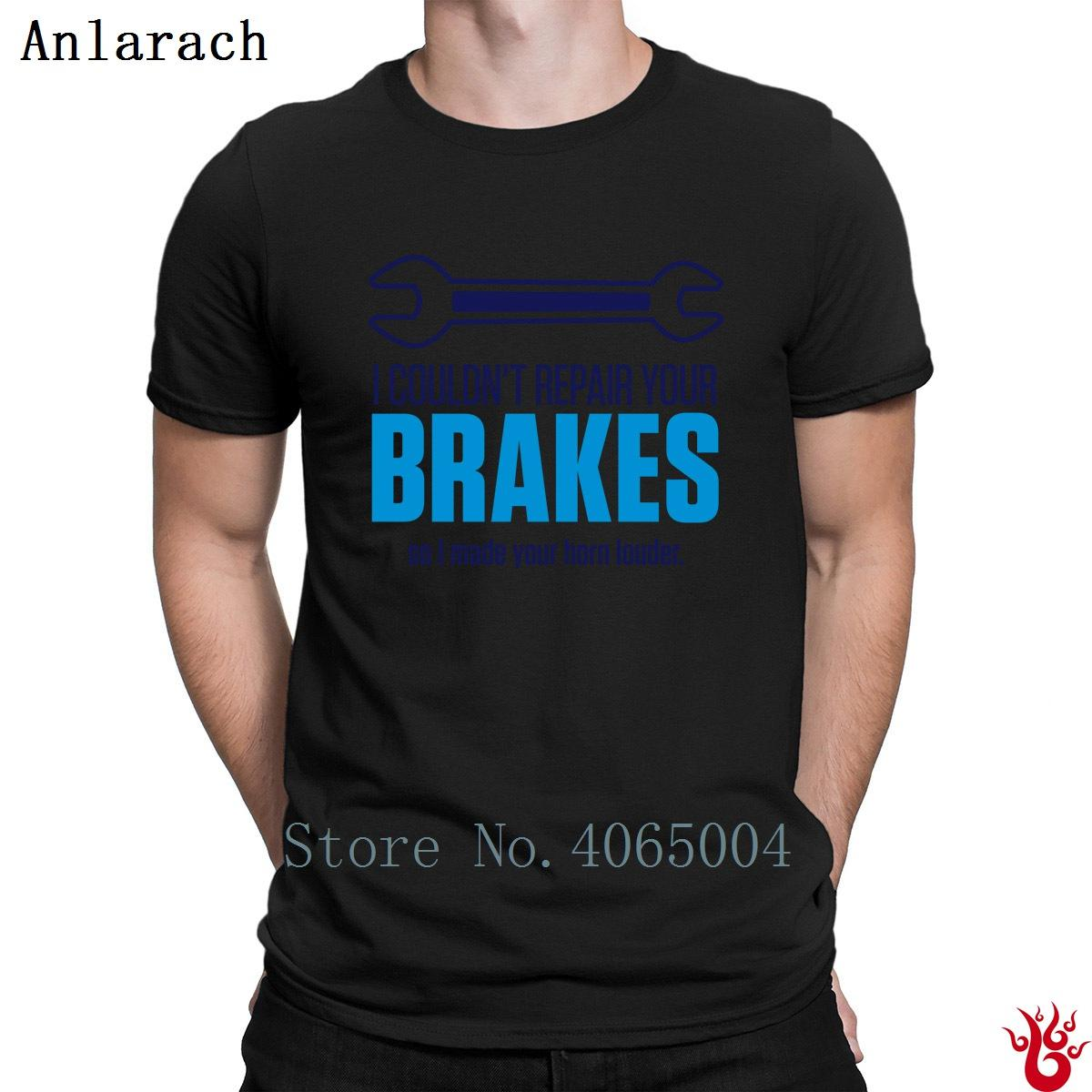 Repair Your Brakes T-Shirt Short Sleeve Famous Novelty Round Neck Men Tshirt Summer Printed Costume Hiphop Fashion