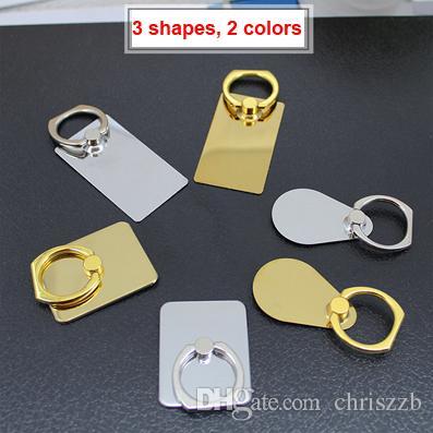 50pc blancs de gravure au laser sliver or couleur mixte en acier inoxydable support de téléphone portable pour les cadeaux de bricolage