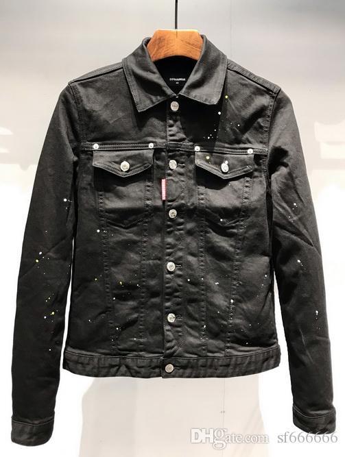 2020 famosa chaqueta de mezclilla marca masculina vendedor caliente americano camisa denim patchwork Europea recta L029 chaqueta de mezclilla