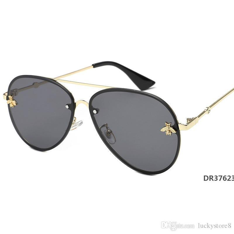 2019 New high quality brand designer luxury womens sunglasses women sun glasses round sunglasses gafas de sol mujer lunetteDR37623