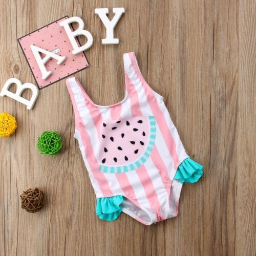 2019 Summer linda del niño de los bebés sandía traje de baño traje de natación de una sola pieza Bikini niños Beachwaear