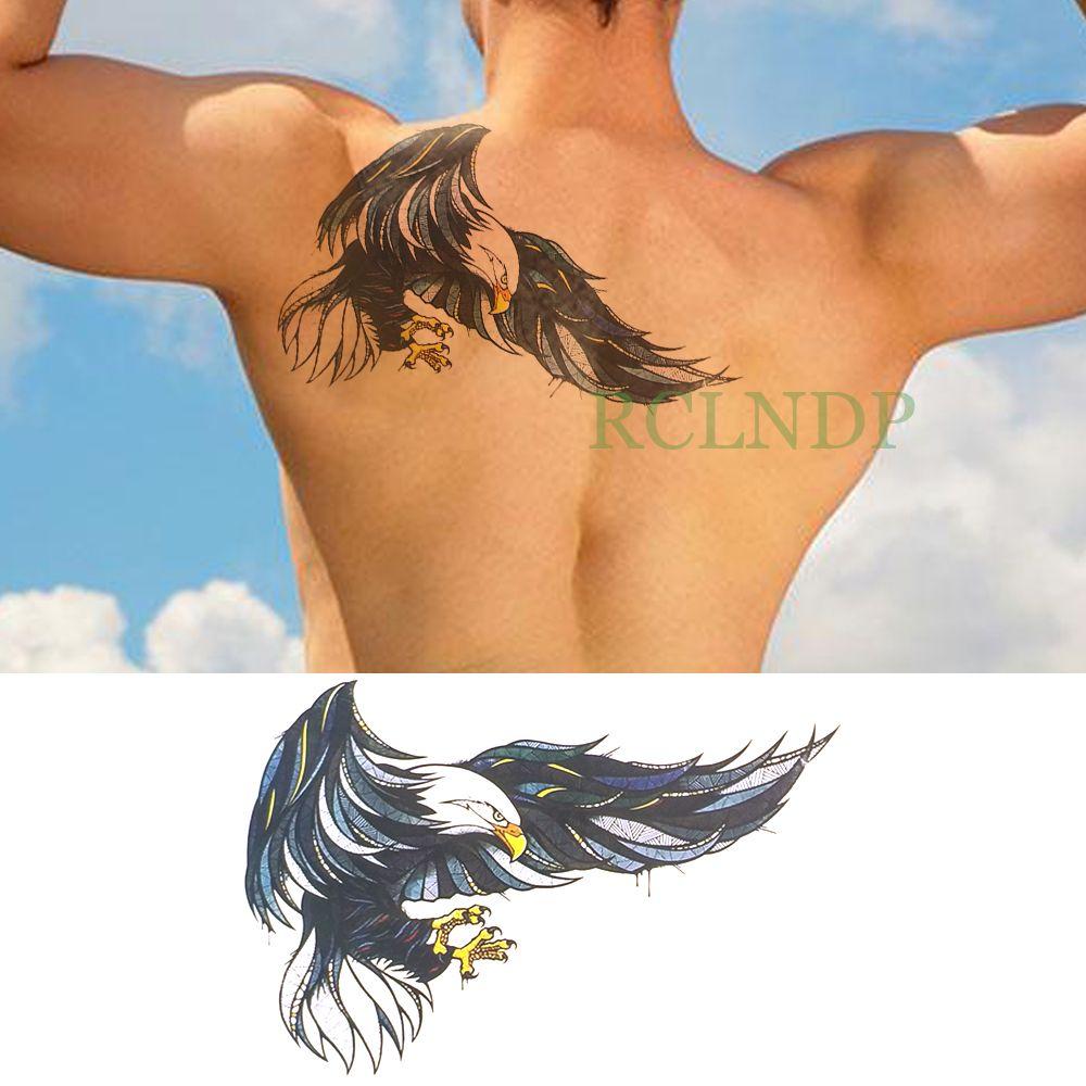 TEMPORÁRIA Tattoos Waterproof Temporary Tattoo Sticker Asas de Eagle Falso Tatto flash Tatoo Voltar perna, braço barriga peito grande tamanho por Mulheres gir ...
